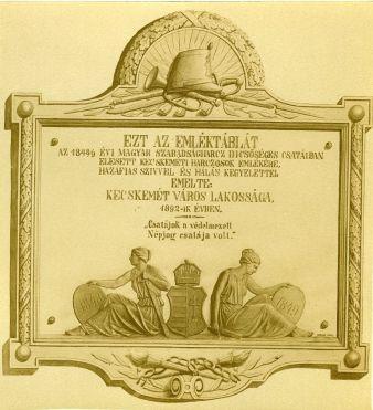 Hovéd emléktábla a Nagytemplom homlokzatán